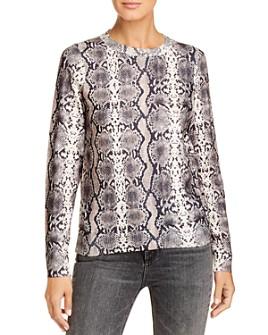 Vero Moda - Snakeskin-Print Crewneck Sweater