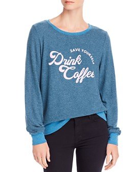 WILDFOX - Baggy Beach Drink Coffee Sweatshirt