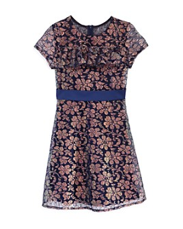 Laundry by Shelli Segal - Girls' Metallic Lace Dress - Big Kid