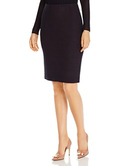 BOSS - Vidar Plaid Pencil Skirt