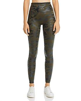 SPANX® - Plus Faux-Leather Camo Leggings