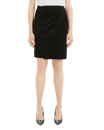 Theory - Pleated Wrap Pencil Skirt