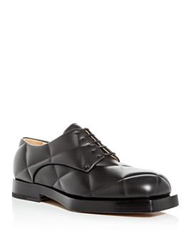 Bottega Veneta - Men's Embossed Leather Oxfords