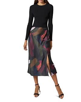 Ted Baker - Tamlin Sapphire Contrast Midi Dress