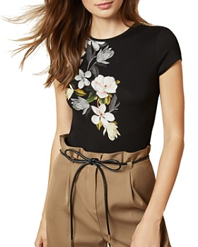 Ted Baker - Torina Floral Print Fitted Tee