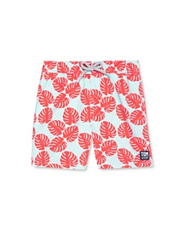 TOM & TEDDY - Boys' Leaf Print Swim Trunks - Little Kid, Big Kid