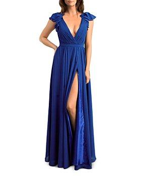 Basix - Plisse Crepe Gown