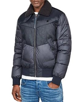 G-STAR RAW - Ore Slim Fit Denim Mix Bomber Jacket