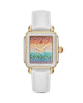 MICHELE - Deco Full Rainbow Diamond Watch, 33mm x 35mm