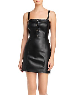 BB DAKOTA - Nice Cool Faux Leather Mini Dress