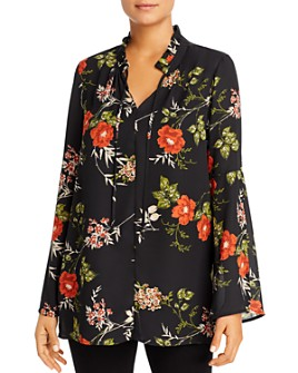 Single Thread - Floral Crepe Tunic Blouse