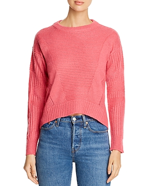 Design History Mixed-Rib High/Low Sweater
