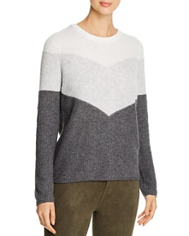 Design History - Color-Block Back-Zip Sweater