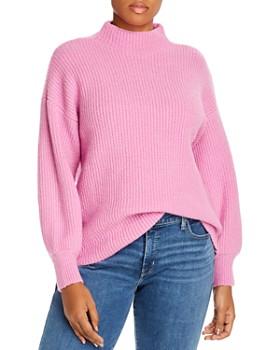 AQUA Curve - Mock-Neck Sweater - 100% Exclusive
