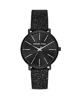 Michael Kors - Pyper Leather Strap Watch, 38mm