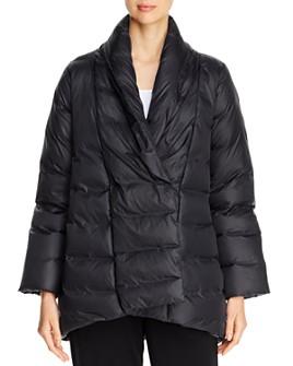 Eileen Fisher - Shawl-Collar Down Puffer Coat