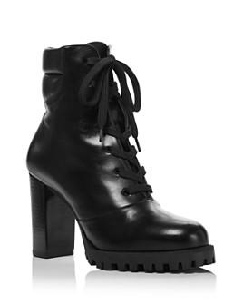 Stuart Weitzman - Women's Cyler Stacked Heel Booties