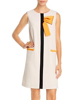 PAULE KA - Sleeveless Bow-Detail Shift Dress