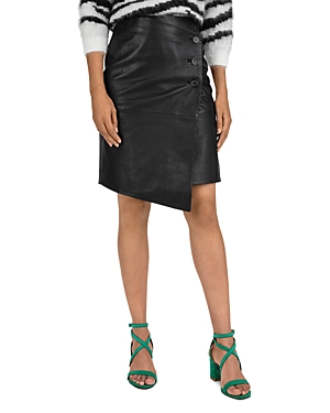 Ba&sh Skirts BA & SH LANA ASYMMETRIC LEATHER SKIRT