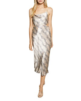 Bec & Bridge - Snakeskin-Print Slip Dress
