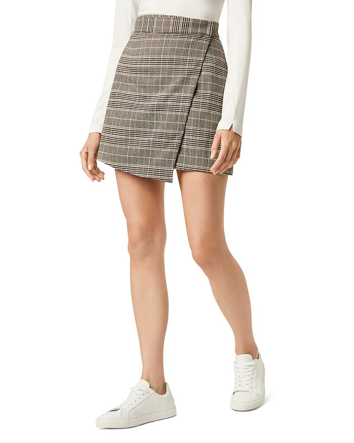 FRENCH CONNECTION - Amati Check Mini Wrap Skirt