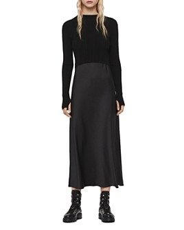 ALLSAINTS - Karla Two-Piece Satin Slip Dress