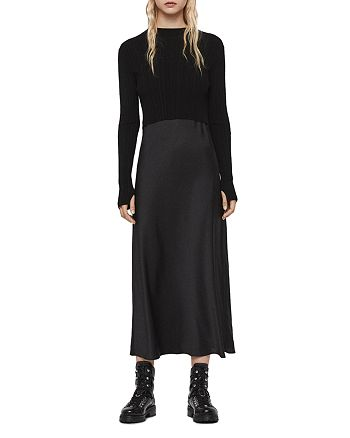 ALLSAINTS - Karla Two-Piece Satin Slip Dress