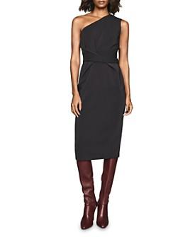 REISS - Laurent One-Shoulder Bodycon Dress
