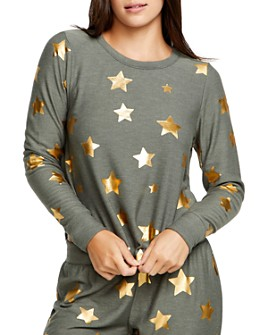 CHASER - Metallic Star Print Sweatshirt
