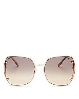 Salvatore Ferragamo - Women's Gancini Hinge Oversized Square Sunglasses, 62mm