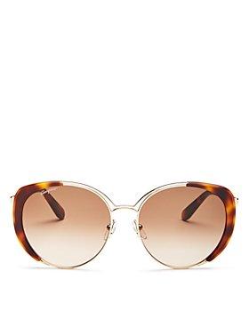 Salvatore Ferragamo - Women's Classic Oversized Cat Eye Sunglasses, 60mm