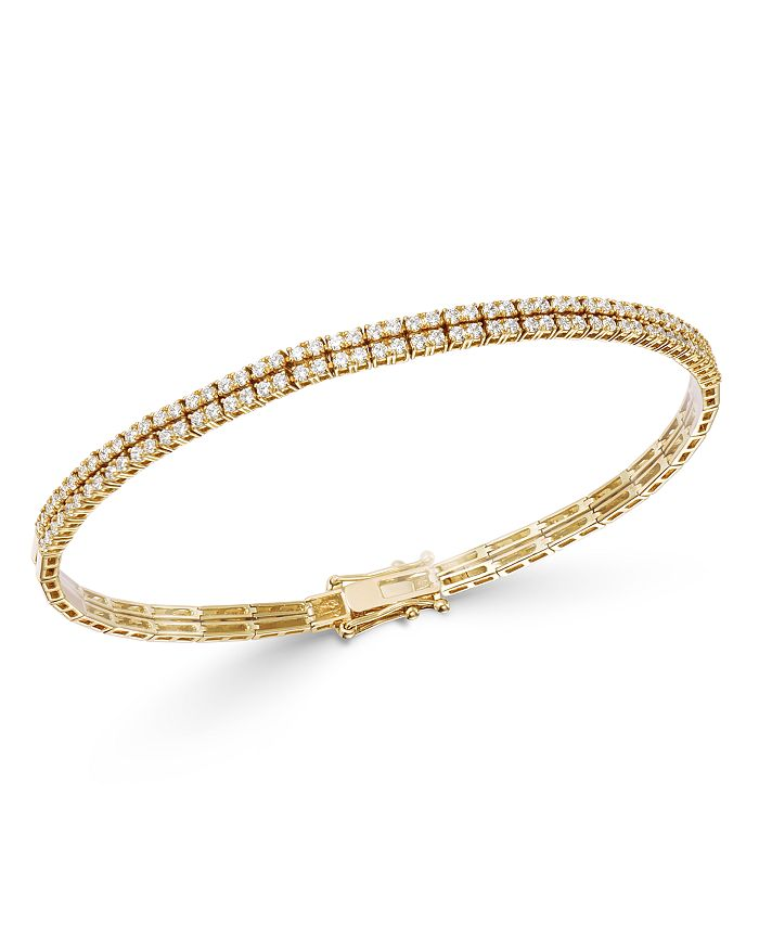 Bloomingdale's - Diamond Double-Row Bracelet in 18K Yellow Gold - 100% Exclusive