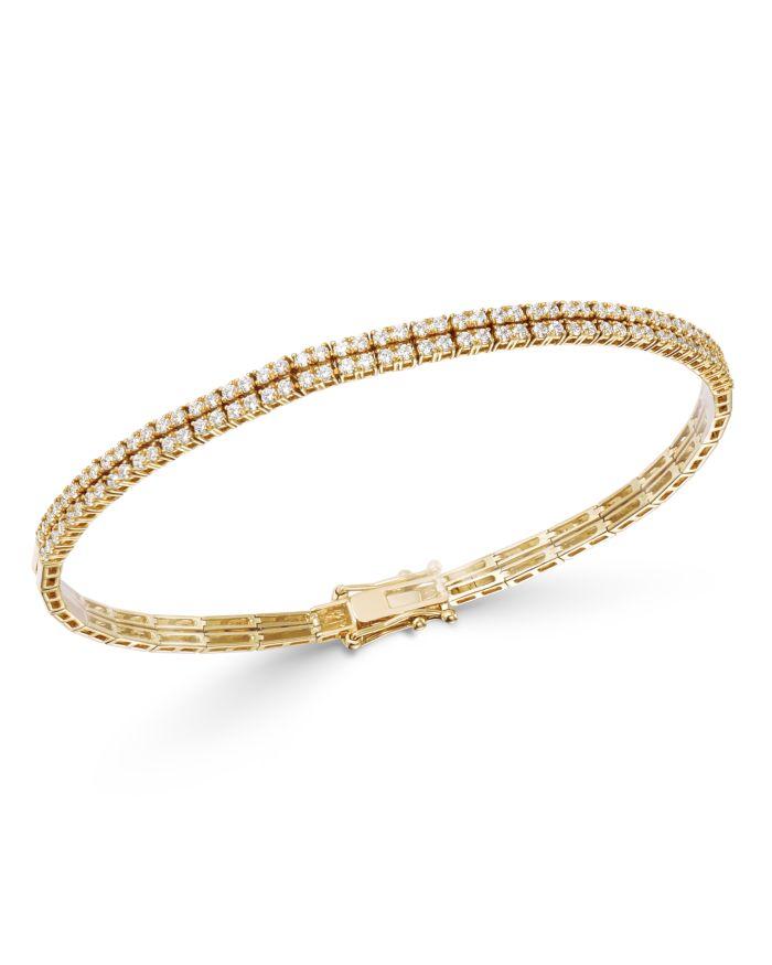 Bloomingdale's Diamond Double-Row Bracelet in 18K Yellow Gold - 100% Exclusive    Bloomingdale's
