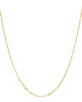 """Argento Vivo - Mini Figaro Chain Necklace in 18K Gold-Plated Sterling Silver, 16""""-18"""""""