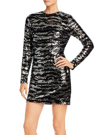 FRENCH CONNECTION - Ebba Tiger Sequins Mini Dress