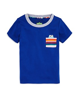 Isaac Mizrahi Loves Sesame Street - Unisex Cookie Monster Pocket Tee, Baby, Little Kid - 100% Exclusive