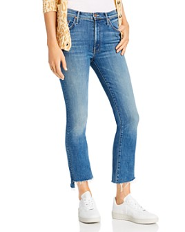 MOTHER - The Insider Crop Step Fray Flared Jeans in Wild Game