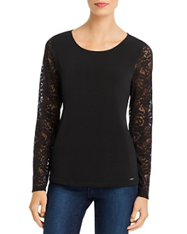 Calvin Klein - Lace-Sleeve Top