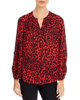 T Tahari - Leopard-Print Top