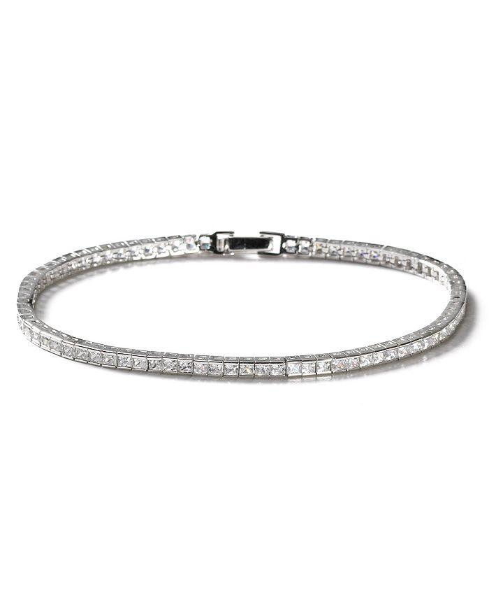 Crislu - Square Stone Tennis Bracelet