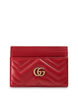 Gucci - GG Marmont Quilted Leather Card Case