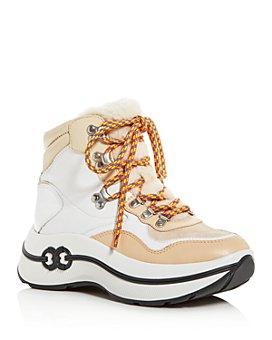 Tory Burch - Women's Gemini Link Shearling Platform Hiking Boots