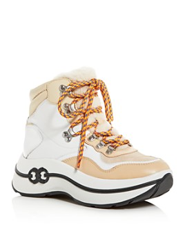 Tory Burch - Women's Gemini Link Shearling Platform Hiking Boots