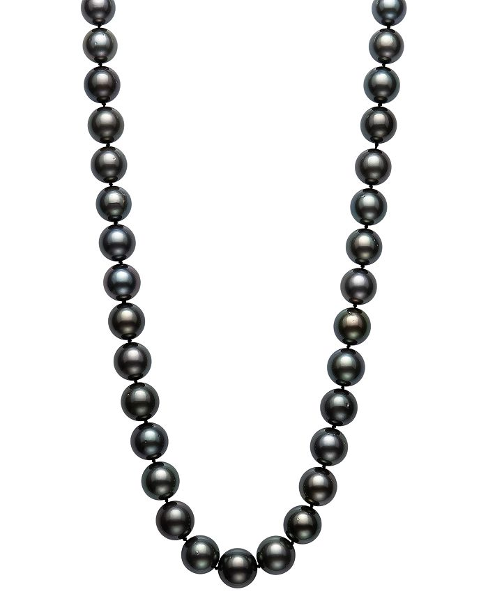 """Bloomingdale's - Tahitian Black Pearl Strand Necklace in 14K Yellow Gold, 18"""" - 100% Exclusive"""