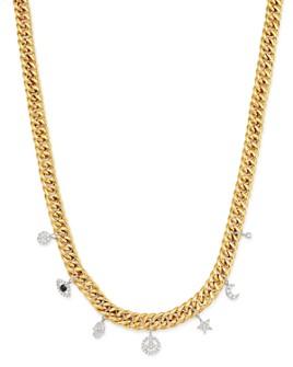 """Meira T - 14K Yellow & White Gold Diamond Multi-Charm Necklace, 18"""""""