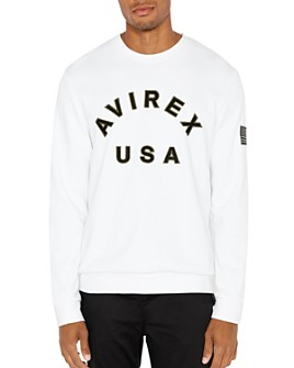 Avirex - Patchwork Embroidered-Logo Sweatshirt