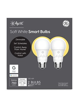 GE - Soft White Smart LED Light Bulbs, 2 Pack