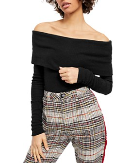 Free People - Snow Bunny Off-the-Shoulder Sweater