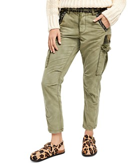 Free People - Wild Nothing Embroidered Cargo Pants