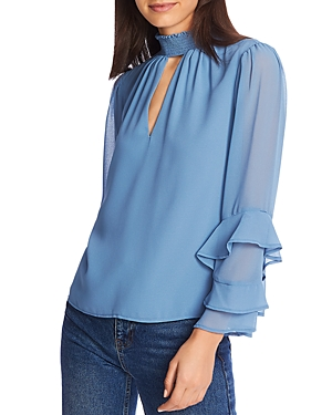 1.state Tops RUFFLE-SLEEVE BLOUSE
